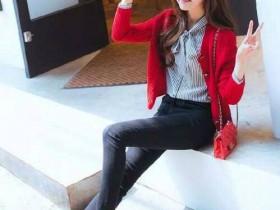 大红色毛衣配什么外套?红色毛衣外套搭配图片
