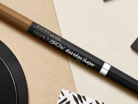 美宝莲眉笔怎么用 液体双头三角眉笔用法图解