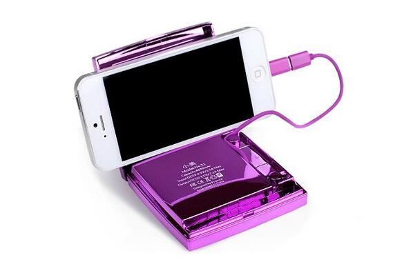 艾芭莎小美S1移动电源化妆盒