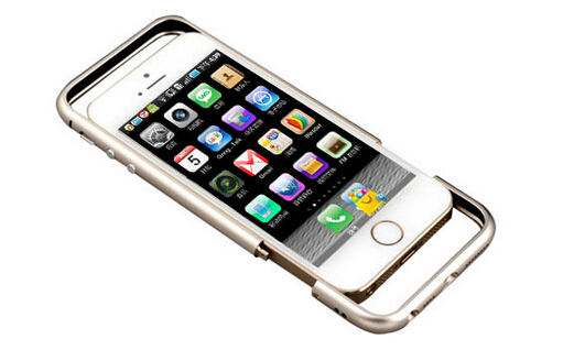 5s立即变iphone6-超薄弧形金属边框5s手机套
