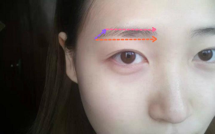 画一字眉图解:一字眉怎么画 初学者怎么修一字眉
