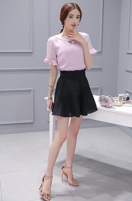 紫色雪纺衫搭配_粉色雪纺衫怎么搭配 粉色碎花雪纺衬衫搭配图片 - 每日一荐-膜吧网